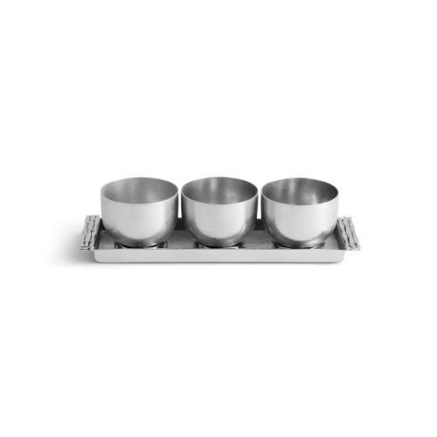 $200.00 Triple Bowl Set W/ Tray