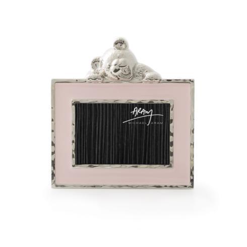 $55.00 Teddy Frame Pink Enamel 2x3