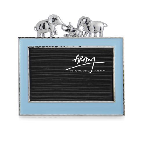 $100.00 Elephant 4x6 Frame Blue Enamel