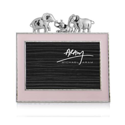 $100.00 Elephant 4x6 Frame Pink Enamel