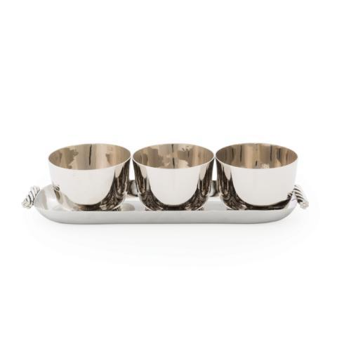 $150.00 Triple Bowl Set w/ Tray