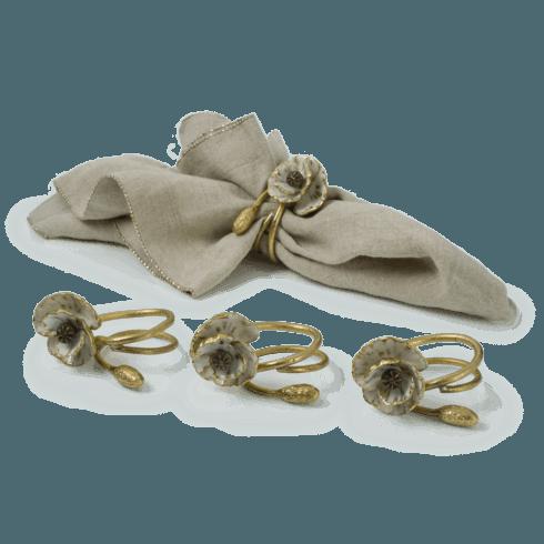 Michael Aram  Anemone Napkin Rings (Set of 4)  $135.00