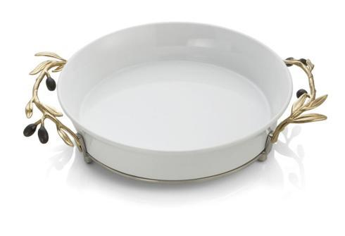 Michael Aram  Olive Branch Gold Pie Dish $200.00