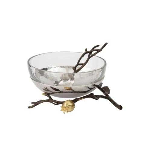 $175.00 Glass Bowl with Spoon