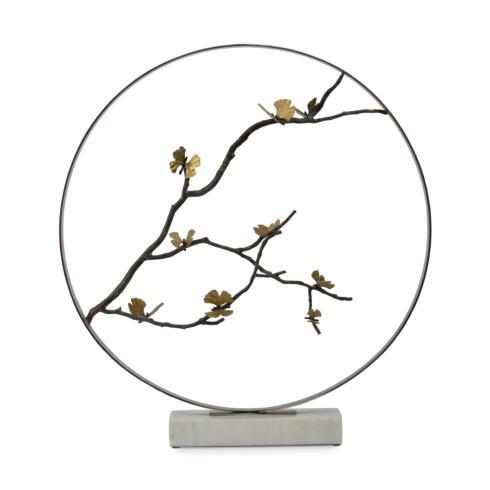 """Butterfly Ginkgo 36"""" Moon Gate Sculpture"""