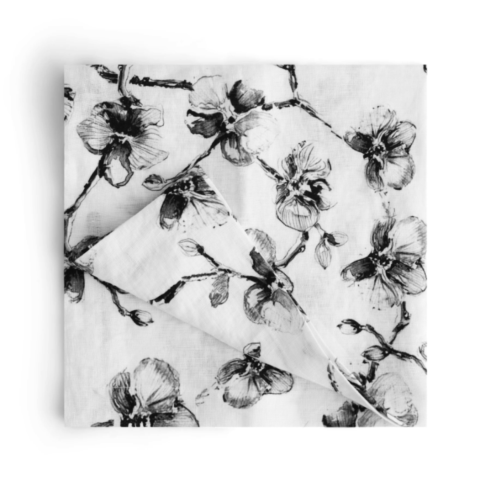$90.00 Black Orchid Dinner Napkins