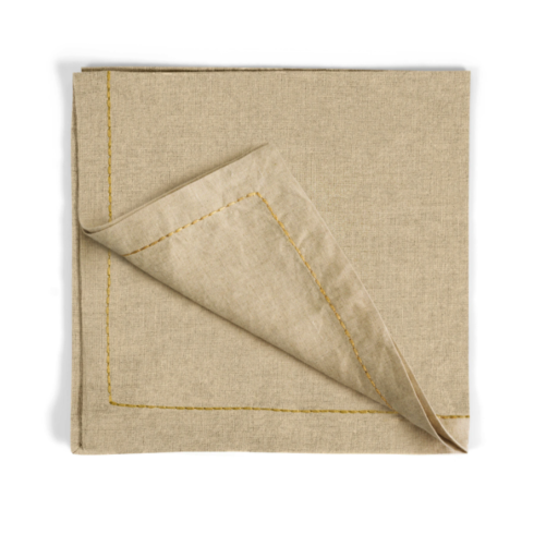 $90.00 Gold Thread Saddlestitch Dinner Napkins
