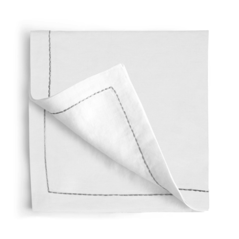 $90.00 Silver Thread Saddlestitch Dinner Napkins