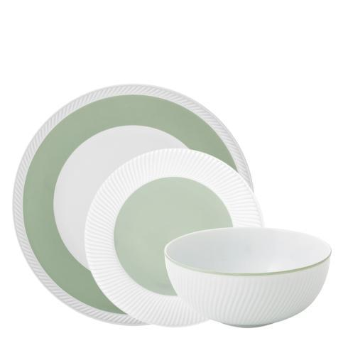 $85.00 3PC DINNERWARE SET SAGE
