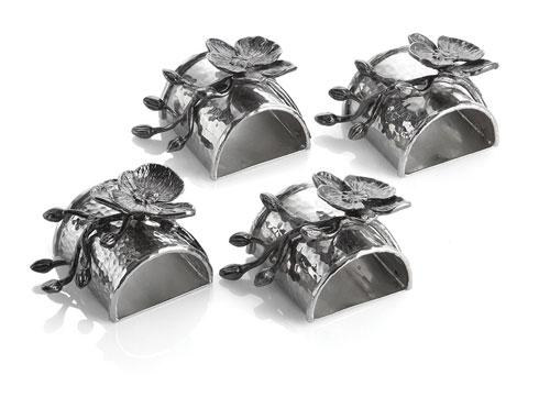 Michael Aram  Black Orchid Napkin Ring Set $115.00