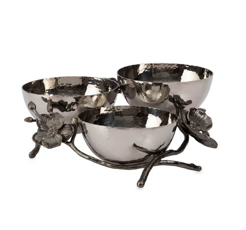 Michael Aram  Black Orchid Triple Nut Dish $250.00
