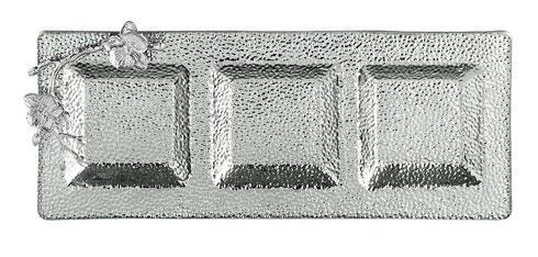 Michael Aram  White Orchid Glass Trio Platter $175.00