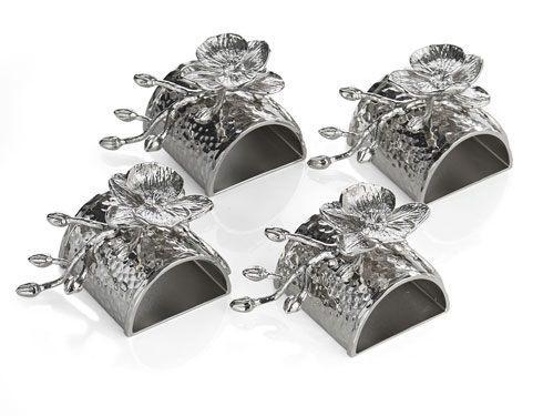 Michael Aram  White Orchid Napkin Ring Set $100.00