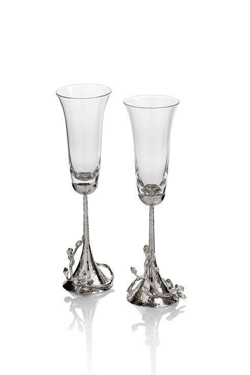 Michael Aram  White Orchid Toasting Flute $135.00