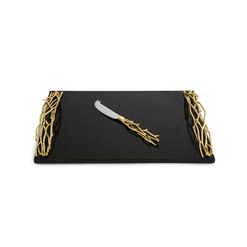 $225.00 Gold Large Cheese Board with Knife
