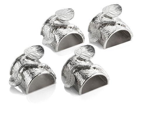 Michael Aram  Botanical Leaf Napkin Ring Set $100.00