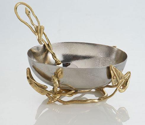 Michael Aram  Enchanted Garden Nut Bowl W/Spoon $125.00