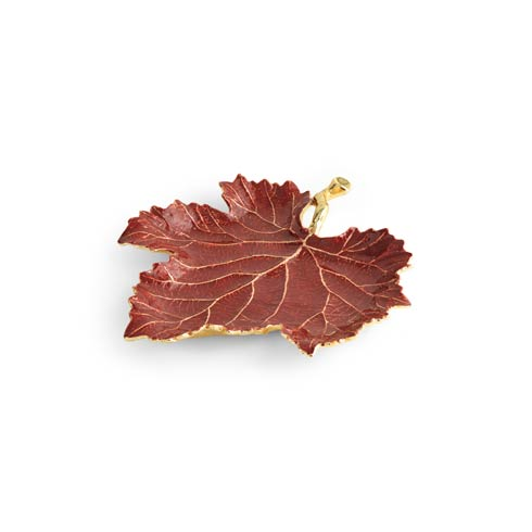 $75.00 Red Grape Leaf Dish