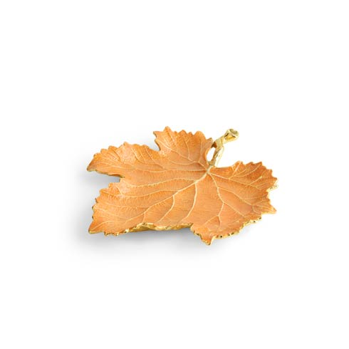 $75.00 Orange Grape Leaf Dish
