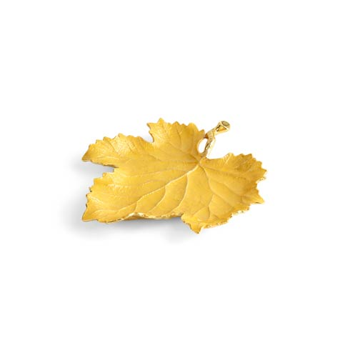 $75.00 Yellow Grape Leaf Dish