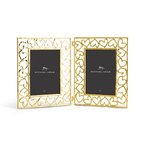 $195.00 Hinged Frame 5x7 - Gold