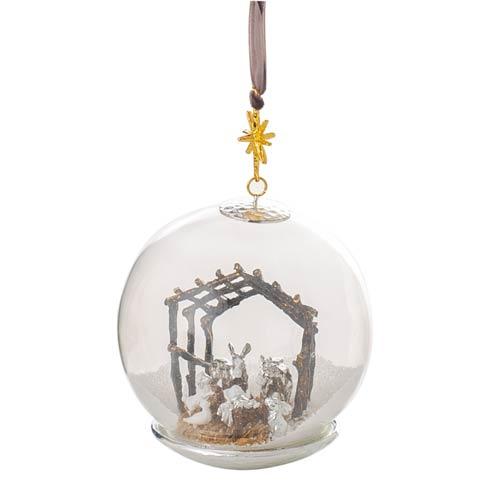 $85.00 Manger Snow Globe