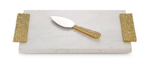 Michael Aram  Molten Gold Cheese Board with Spreader $135.00