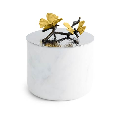 Large Marble Candle