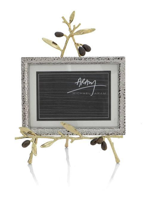 Michael Aram  Olive Branch Gold Convertible Easel Frame $150.00