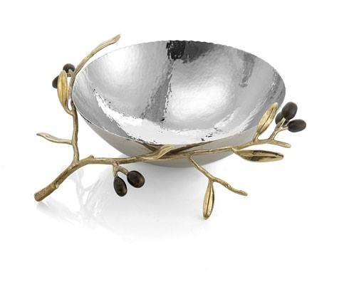 Michael Aram  Olive Branch Gold Steel Bowl $200.00