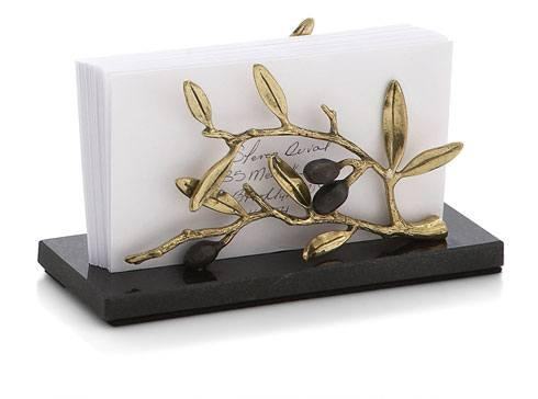 Michael Aram  Olive Branch Gold Vertical Napkin Holder $90.00