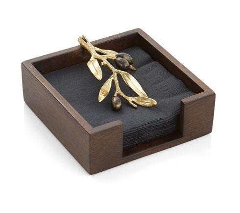 Michael Aram  Olive Branch Gold Cocktail Napkin Holder $65.00