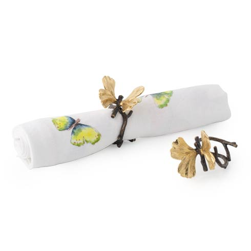 Michael Aram  Butterfly Ginkgo Napkin Ring Set (Set of 4) $125.00