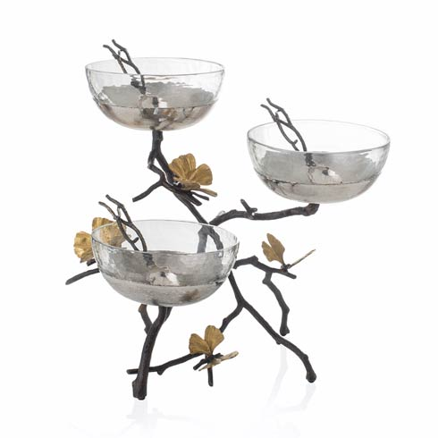$675.00 Triple Bowl Set with Spoons