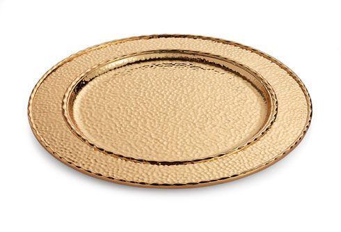 $100.00 Charger/Platter Goldtone