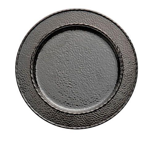Michael Aram  Hammertone Charger/Platter Black Nickelplate $100.00