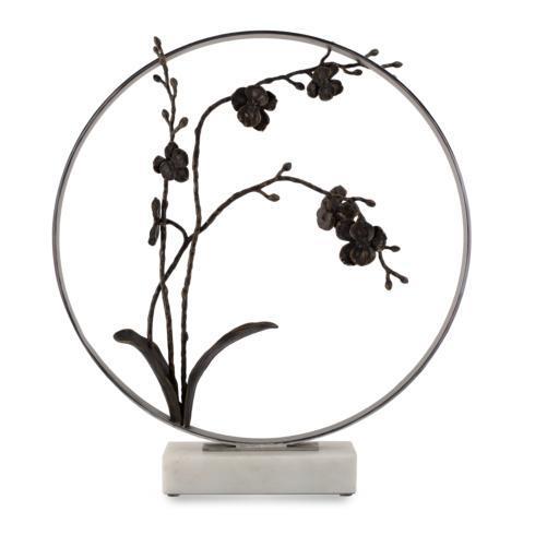 """Black Orchid 22"""" Moon Gate Sculpture"""