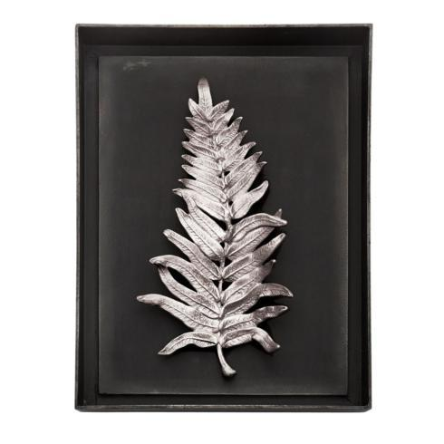 $395.00 FERN SHADOW BOX ANTIQUE NICKEL