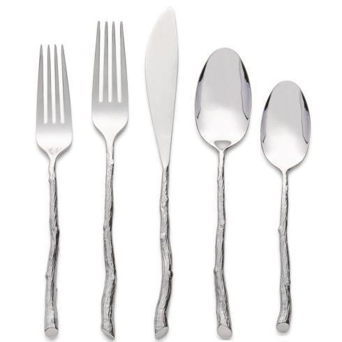 $75.00 Twig 5 piece Flatware Set