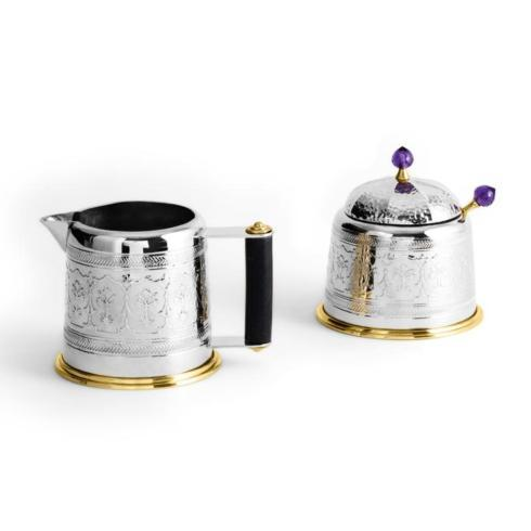 $475.00 Creamer & Sugar Pot w/ Spoon Set