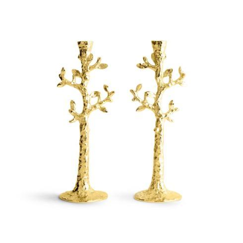$175.00 Candleholders S/2 Gold