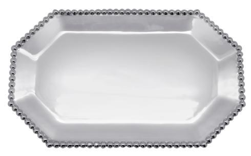 Mariposa Serving Trays and More String of Pearls Pearled Small Rect. Octagonal $120.00