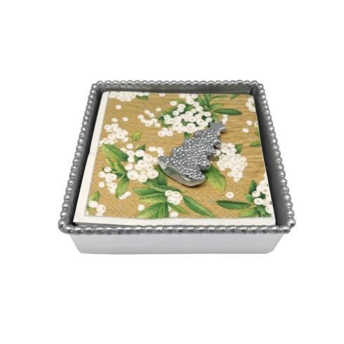$49.00 Dotty Tree Beaded Napkin Box