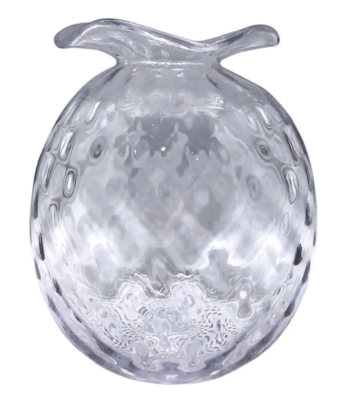 $98.00 Large Clear Pineapple Textured Bud Vase