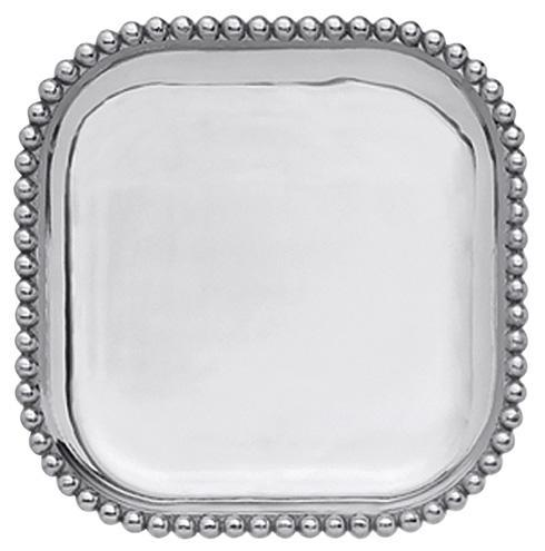 Mariposa  String of Pearls Pearled Square Platter $84.00