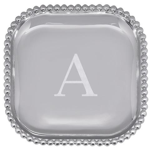 Mariposa Serving Trays and More Mariposa Initial Program A Pearled Square Platter $89.00