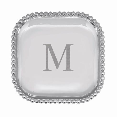 Mariposa  String of Pearls Pearled Square Platter Single $89.00