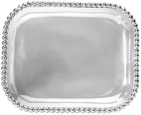 Mariposa  String of Pearls Pearled Rectangular Platter $98.00