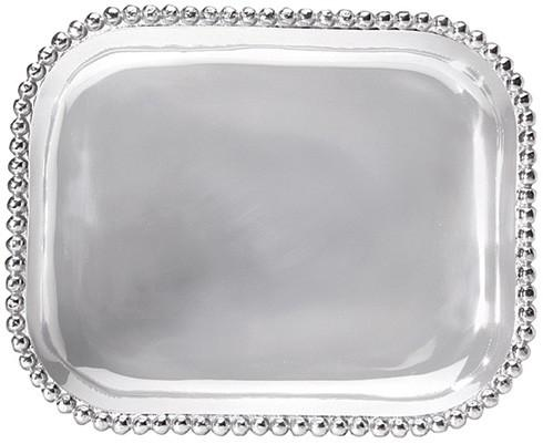 Mariposa Serving Trays and More String of Pearls Pearled Rectangular Platter $98.00