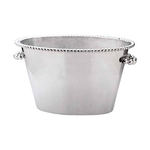 Mariposa Barware String of Pearls Pearled Double Ice Bucket $325.00